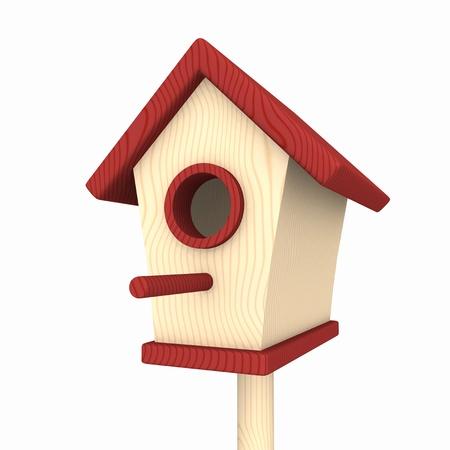tit bird: Birdhouse Red Beige