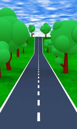 The road to the Horizon 01 Stock Photo - 13822560