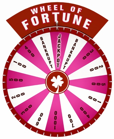 wheel of fortune: 3D Wheel of Fortune - Isolated red Stock Photo