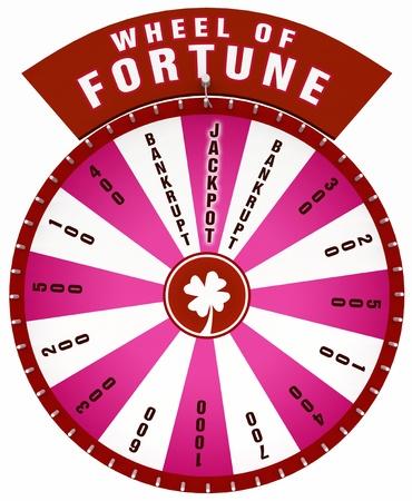 roue de fortune: Roue de la Fortune 3D - Isol� rouge