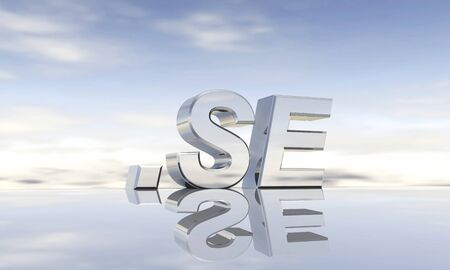 top of the world: Top-Level-Domain  se Stock Photo