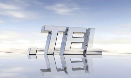 Top-level domain tel Stock Photo - 13844140