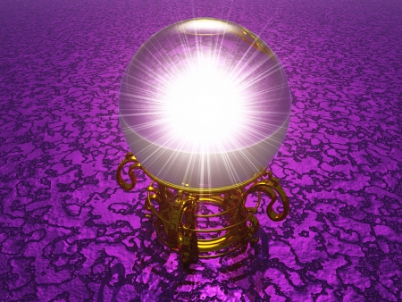 Crystal violet on oracle in 3D structure photo