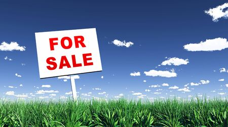 plot: Sign in the grass - For Sale