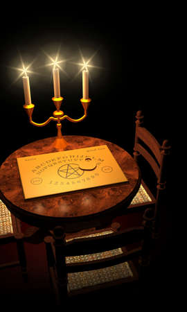 spirit medium: Witchboard channeling by candlelight 03