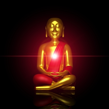 The red light of the Buddha Stock Photo - 13844002