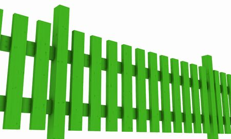 3D wooden fence - free green 02 photo