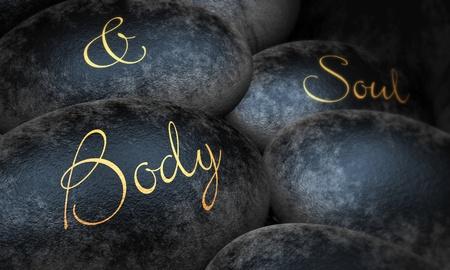 Black Stones - Body Soul Stock Photo - 13915106