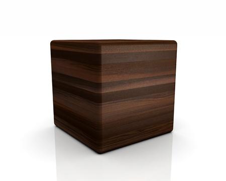 moor: 3D rounded cube timber - oak bog
