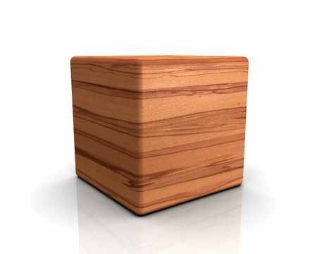 beech: 3D rounded cube timber - beech core