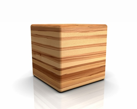 laminated: 3D rounded cube timber - Beech-core nature