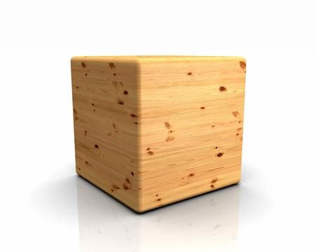 knothole: 3D rounded cube timber - pine knothole