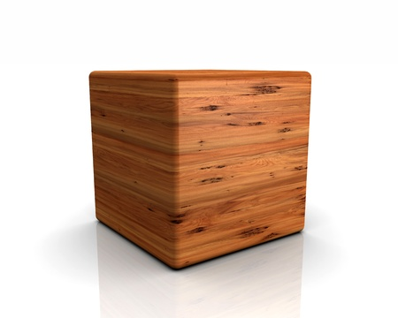 yew: 3D rounded cube timber - European yew