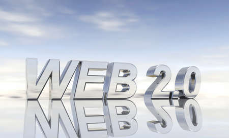 web 2 0: Silver text - Web 2 0