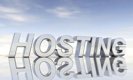 Silver text - Hosting Stock Photo - 13915050