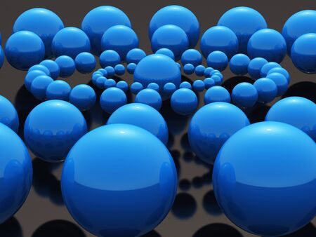 Black Pearls Blue Mandala Stock Photo - 13920243