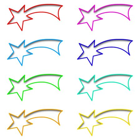Collection 2 - Christian symbol shooting star Stock Photo - 13920164