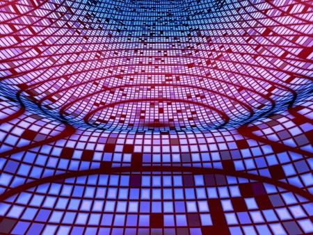 backplate: Pink Wave 01 Blue Matrix Stock Photo