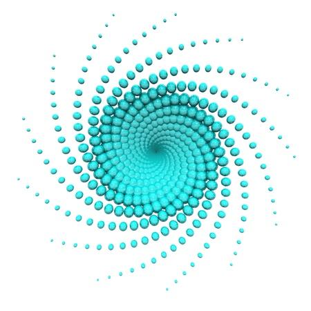 Abstract Turquoise swirl