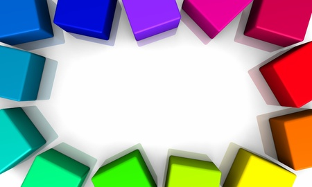 backplate: Colorful frames - 3D cubes