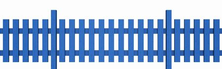 3D wooden fence - free blue 01 photo