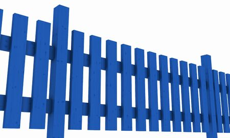 3D wooden fence - free blue 02 photo