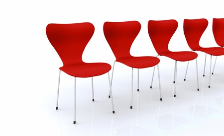 designer chair: Designer chair set - Red