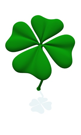 lucky charm: Clover for All - Isolated with shadow