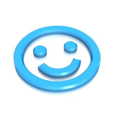 3D - Smile Blue Sign photo