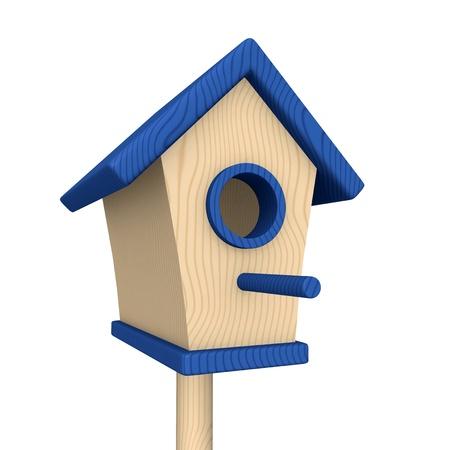 maison oiseau: Maison de l'Oiseau en bois - Bleu