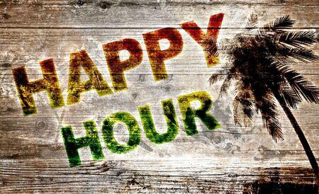 happy hour: Wooden board - Happy Hour