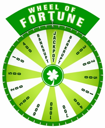 wheel of fortune: 3D Wheel of Fortune - Isolated