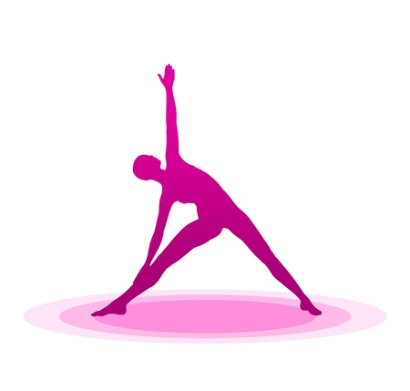 Purple Yoga Pose - 02 Stock Photo - 13921622