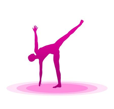 Purple Yoga Pose - 04 Stock Photo - 13921625