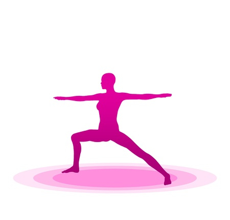 Purple Yoga Pose - 05 Stock Photo - 13921620