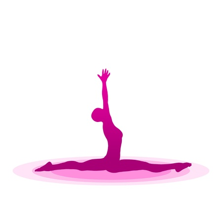 Purple Yoga Pose - 13 Stock Photo - 13921605