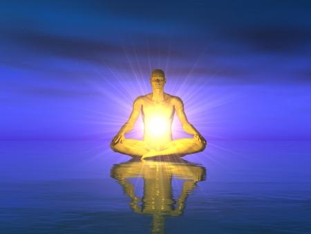 Acqua Meditazione - Blue Gold Archivio Fotografico