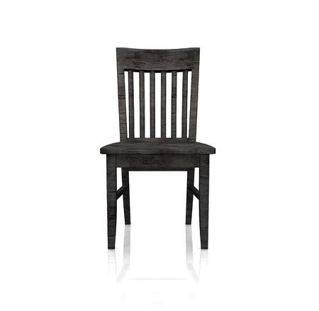 silla de madera: El presidente negro de madera - aislados