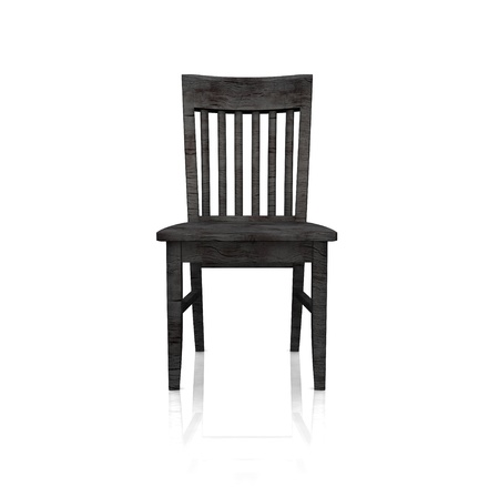 antique chair: The black wooden chair - isolated Stock Photo