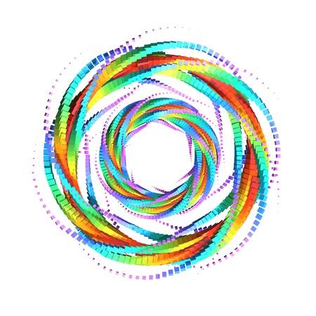 3D Rainbow Galaxy 03 版權商用圖片