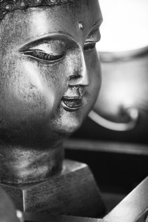Buddha contrast black and white Stock Photo - 13945479
