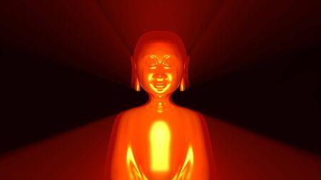 tibet: Buddha Aura Gold Red