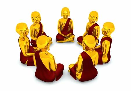 Meditation Circle of Seven Buddhas Stock Photo - 13945184