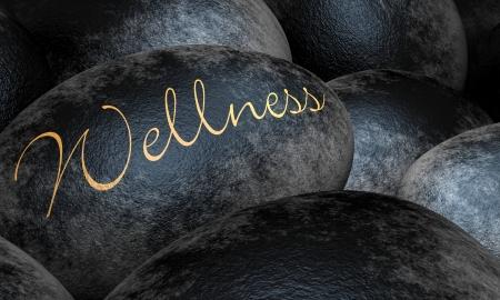 Black stones with text - Wellness Stock Photo - 13945462