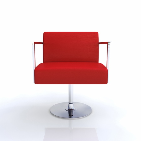 designer chair: Modern Designer Chair - Red Chrome