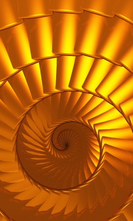 reincarnation: Gold Reincarnation - Circle of Life Stock Photo
