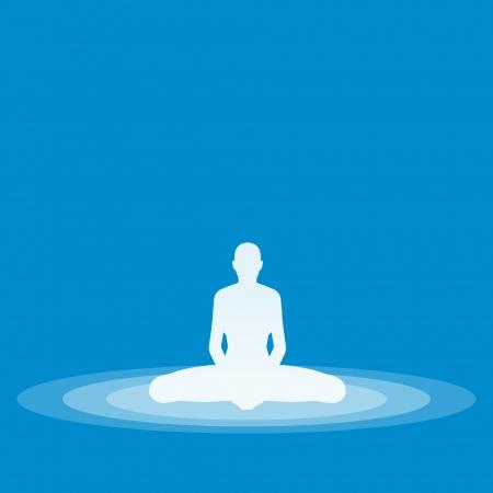 Yoga Pose Symbol - Blue 26 Stock Photo - 13944057