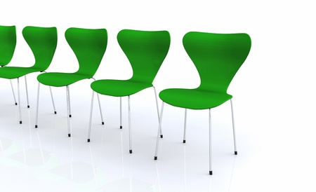 designer chair: Designer chair set - Green