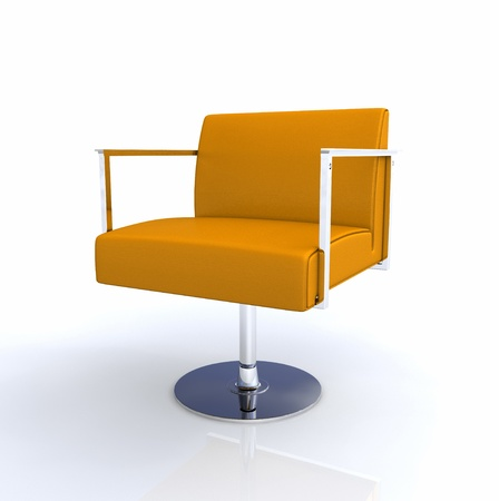 designer chair: Modern Designer Chair - Chrome Orange