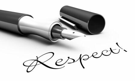 respeto: Respeto - concepto de la pluma Foto de archivo